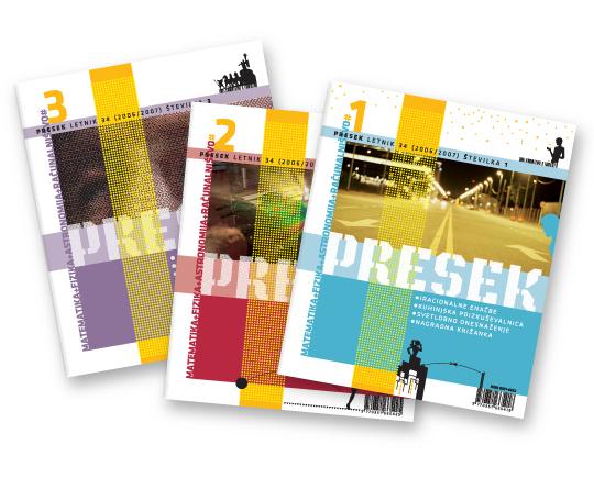 Revija Presek – letniki 32, 33, 34, 35, 36, 37